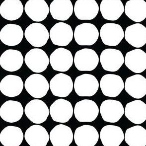 white on black organic dot