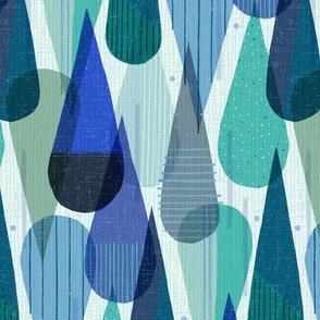 Retro Mod Papercut Rainfall M+M Dew by Friztin