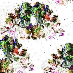 Abstract veggies garden in Acrylic