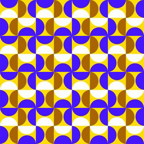 Color blocking blue,yellow,brown and white by Kaorina
