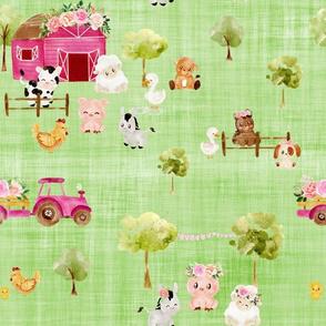 farm green linen