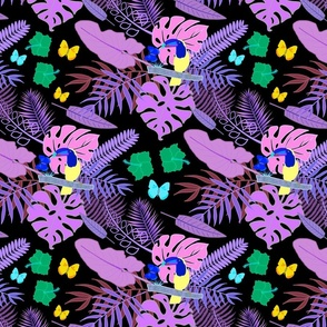 Tropical Toucan Can #4 - black, medium