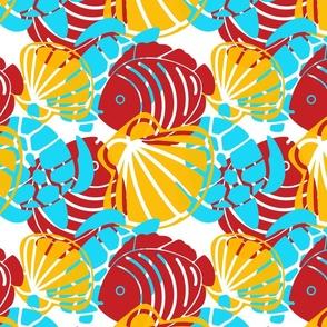 Tropical Turtle -Turtle-Fish-Shells