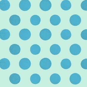Pool Blue Polka Dots