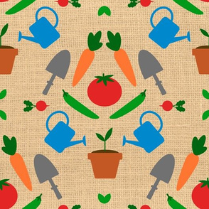 Vegetable Garden Damask