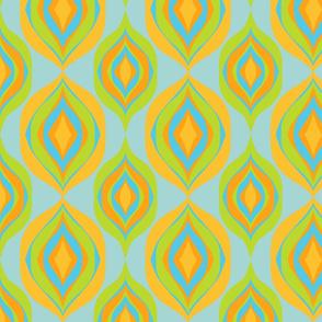 retro 1960s ogee pattern