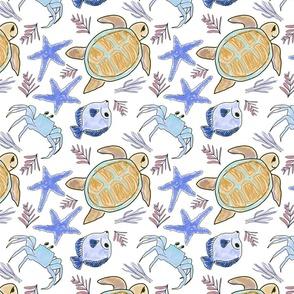 Marine Life Blue