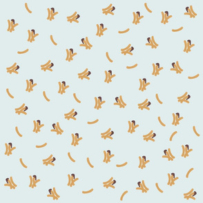 Cute Churros Pattern on Blue Background