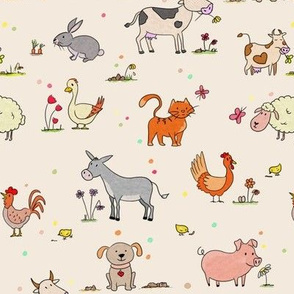 the animals of the farm