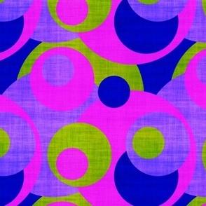 summer circles canvas texture effect purple green fuchsia water sun sky psmge