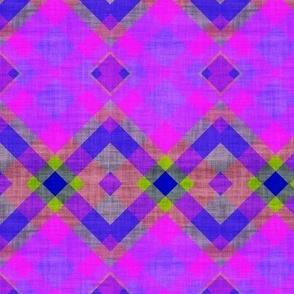 summer diagonal plaid canvas texture effect purple green fuchsia water sun sky psmge