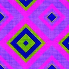 summer diamond lozenge canvas texture effect purple green fuchsia water sun sky psmge