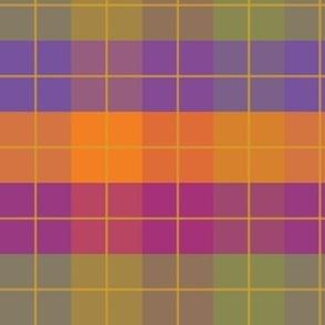 Bold Autumn Gingham w-Grid