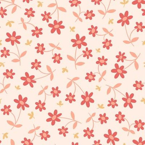 Western Floral in Strawberries and Cream