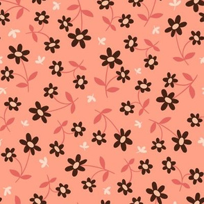 Western Floral in Dusty Pink