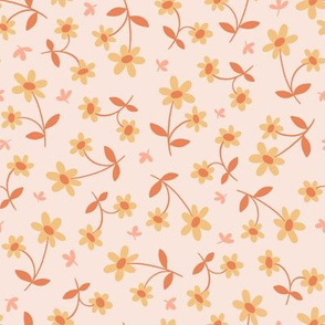 Western Floral in Peaches and Cream