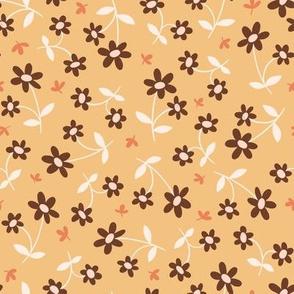 Western Floral in Mustard