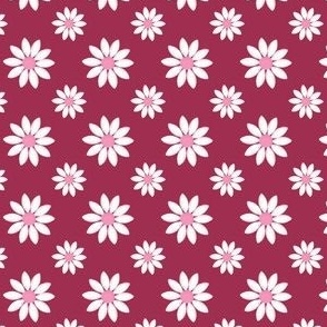 Big small Daisies on red