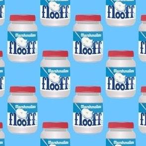 Marshmallow floof on blue