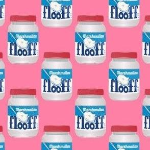 marshmallow floof on pink