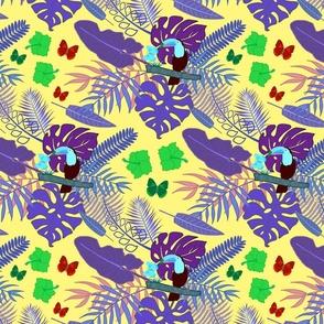 Tropical Toucan Can #2 - sunny yellow, medium