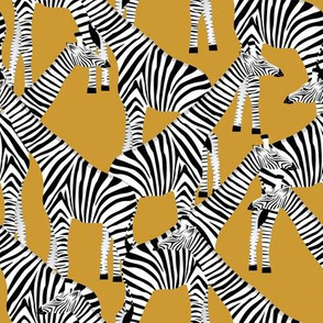 GIRAFFES IN ZEBRA SKIN ON GOLD