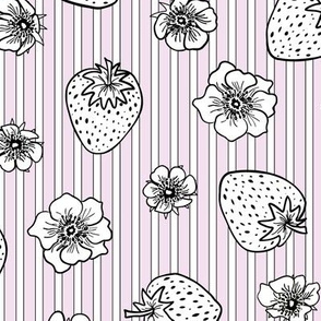 scatter stripe strawberry fields - pink