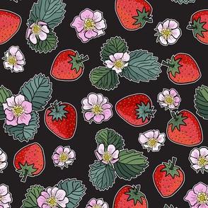 strawberry fields - black