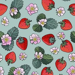 strawberry fields - mint green