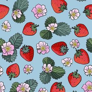 strawberry fields - baby blue