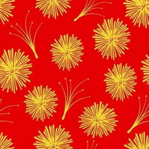 Red and Yellow Dandelion