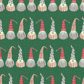 Scandinavian Christmas Gnomes / Green