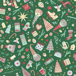 Scandinavian Christmas - Small / Green