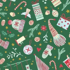 Scandinavian Christmas - Large / Green