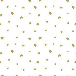 Glitter golden stars / on white