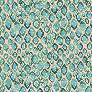 Watercolor Diamond Ombre Geo Blush-Green