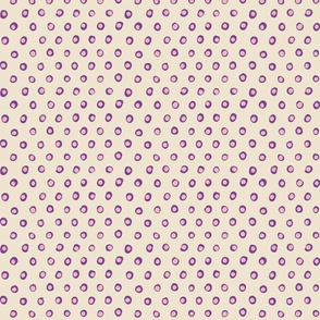 free dots purple and ivory