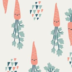 Cute carrots. Big scale