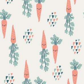 Cute carrots. Small scale