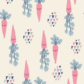 Pink carrots. Medium scale