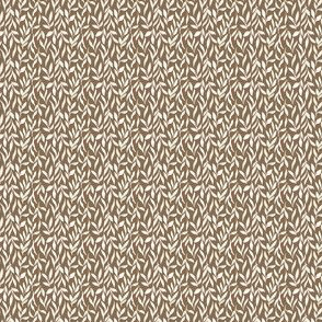 woodlands leaves - Ditsy small Brown
