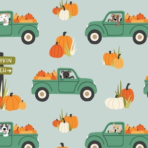 Pumpkin Trucks and Dogs - Large Scale