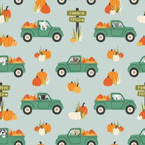 Pumpkin Trucks and Dogs - Medium Scale