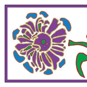 07_Tea Towel Four Flowers_Zinnia only-01