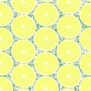 Half Lemon Green Texture Background