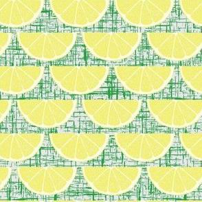 Quarter Slice Lemon Green Texture Background