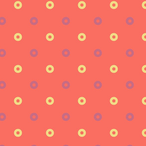 Polka dots in Jasmine, Cinnamon and Sunset