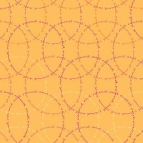 Text circles in Pastel Orange