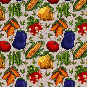 Vegetable Garden Melody - lg cream
