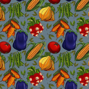 Vegetable Garden Melody-lg blue
